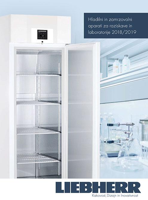 Hladilni in zamrzovalni aparati za raziskave in laboratorije 2018/2019